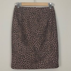 Ann Taylor LOFT Dot Print Pencil Skirt NWOT